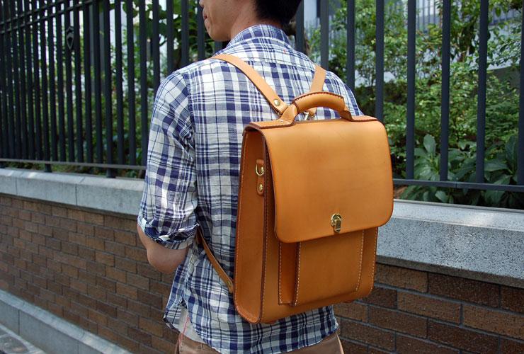 797f603d64ce ビジネスバッグとしても使える本革縦型3wayバッグ「革鞄のHERZ(ヘルツ ...