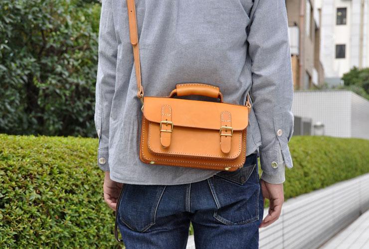 f1ef3275aeb6 メンズレディース問わずで使える本革の2wayミニバッグ「革鞄のHERZ ...