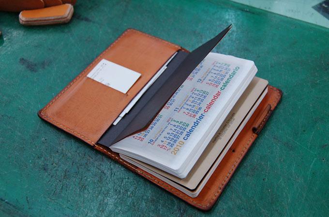 試作の手帳カバー中身