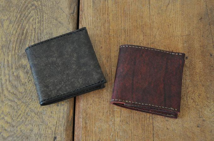 二つ折り財布(ハバナ:ダークレッド(右)、ダークグリーン(左))