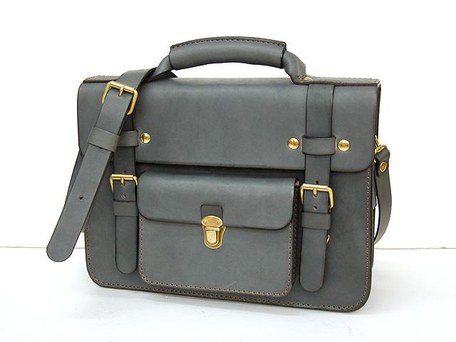 学生鞄風・2wayビジネスバッグ グレイッシュブルー