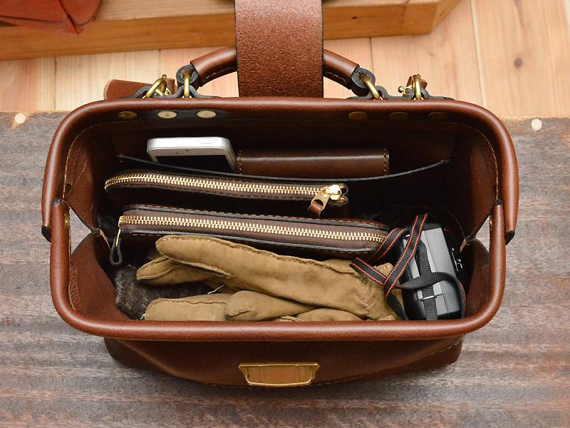 博多工房発のサンプル鞄(口枠2wayショルダー) オープン