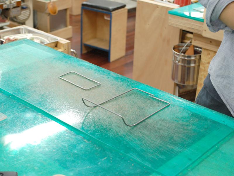 芯材の整形、完成