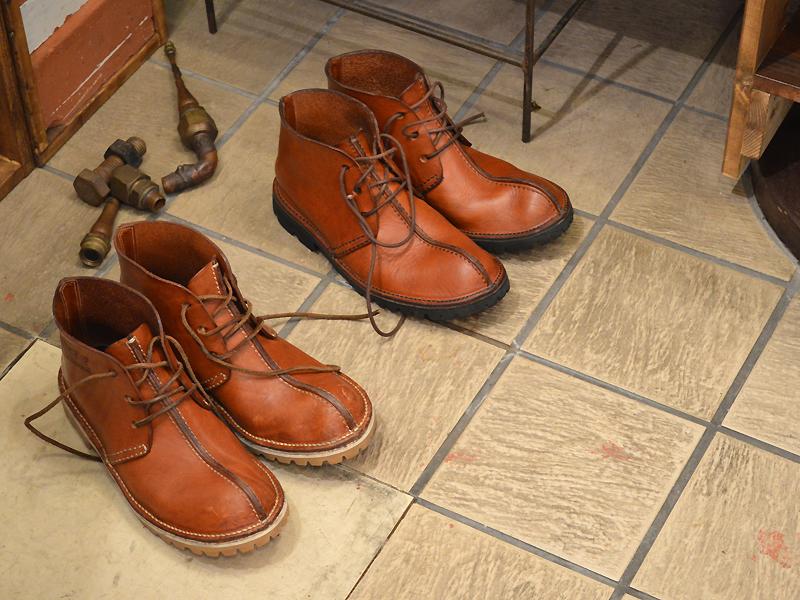 フィールドテストの靴も