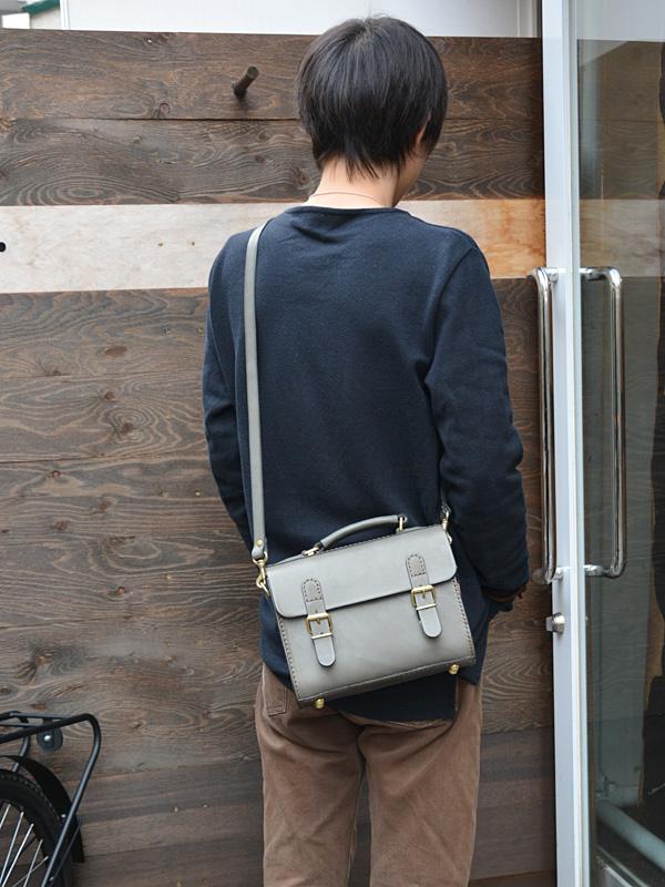 2wayタル型ミニ鞄(CW-2) グレイッシュブルー