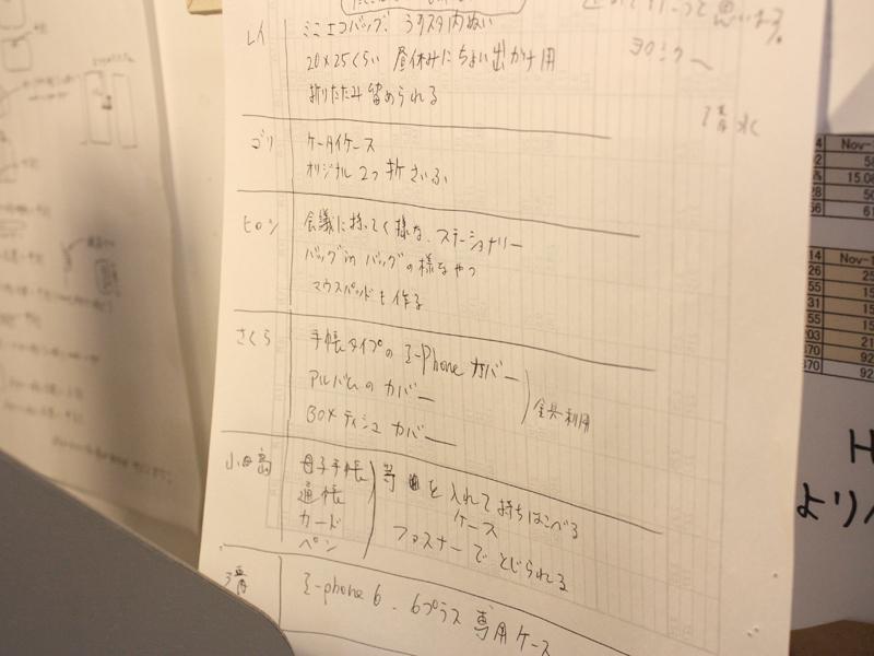 作る予定表