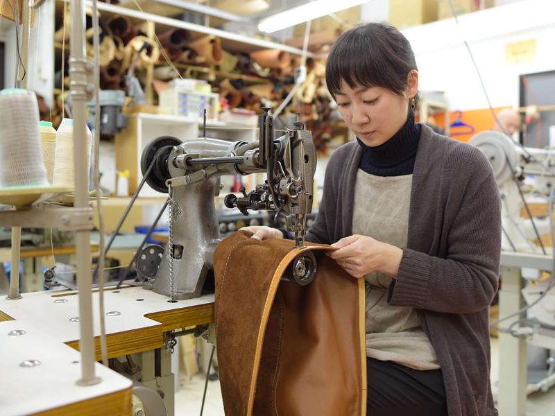 大きな巾着型レジャーバッグ 製作風景2