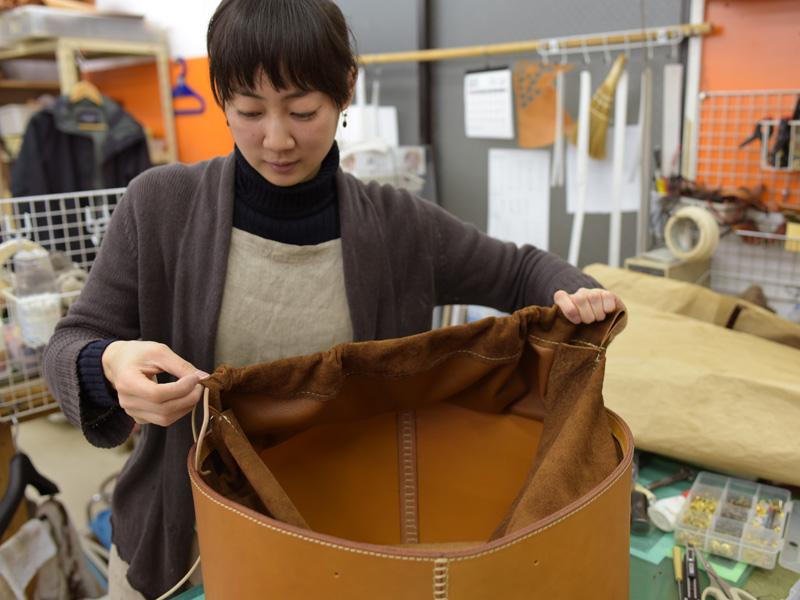 大きな巾着型レジャーバッグ 製作風景9