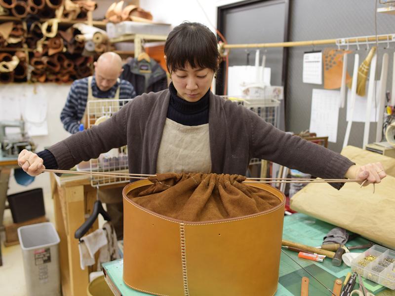 大きな巾着型レジャーバッグ 製作風景10