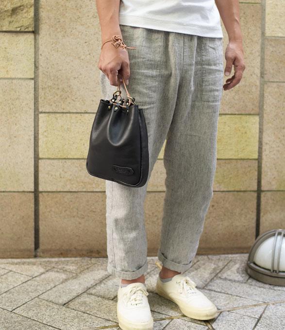 縦長の巾着袋