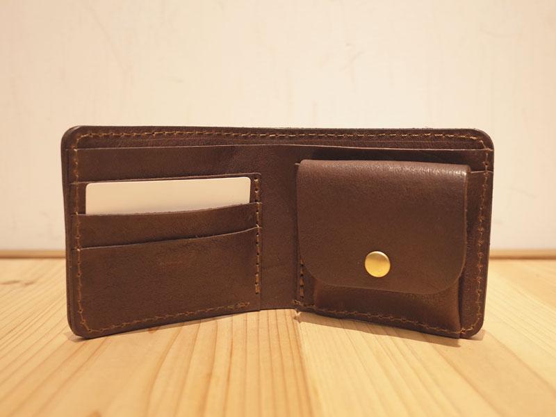 タンドー革の二つ折り財布
