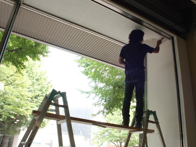 12天井も塗ります