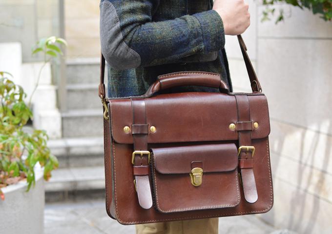スタッフ愛用品:学生鞄風・2wayビジネスバッグ