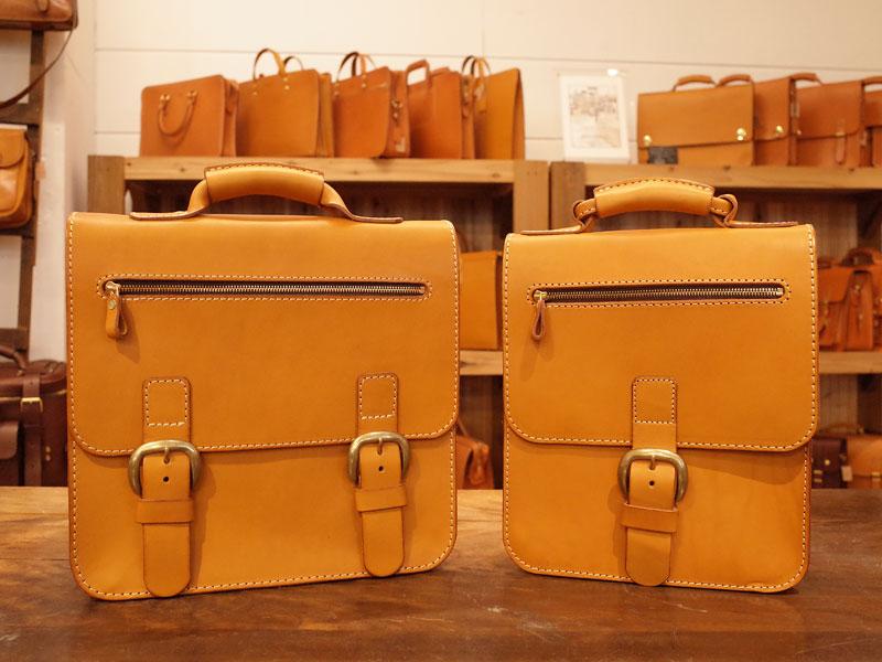 前ベルトが特徴的なこちらの鞄たち