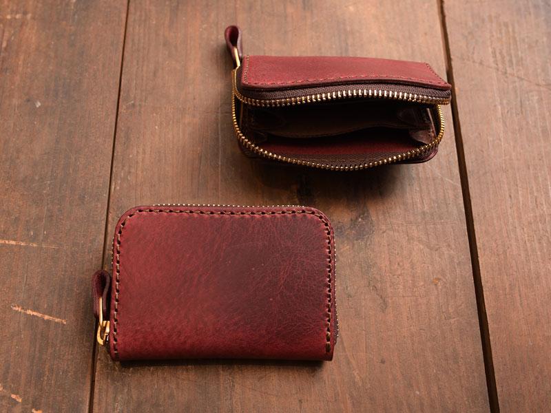 ワインレッドの小型財布(KK-59)