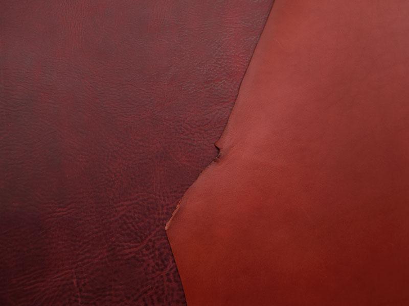 通常の赤革との比較