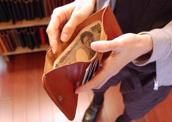 スタッフ愛用品:Organ小型財布 エイジング4