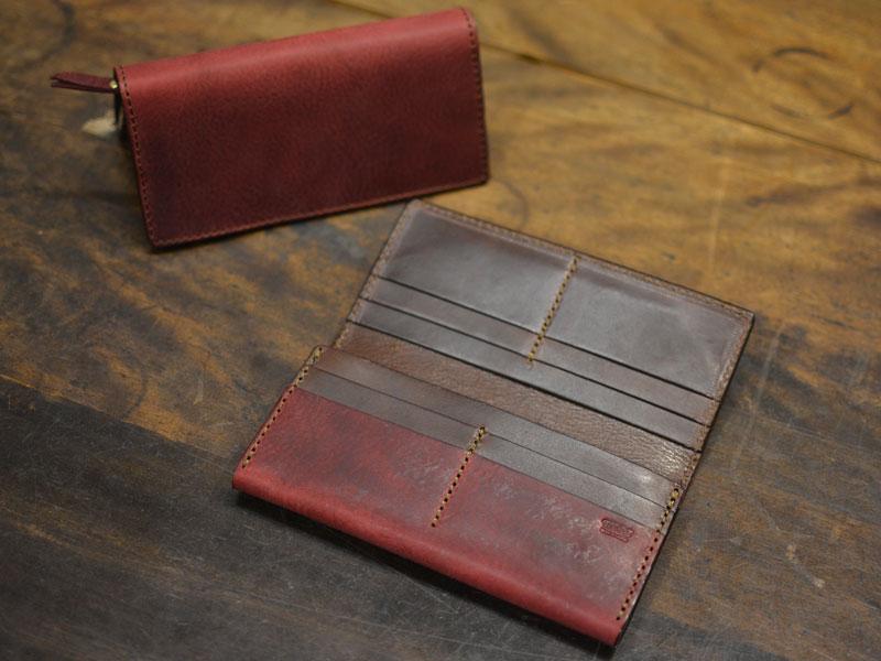 ワインレッドのカード収納に強い長財布(WL-56)