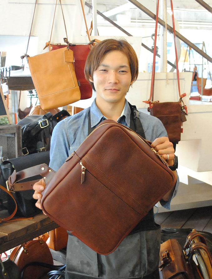 大阪店作り手:漆原の3周年記念バッグ
