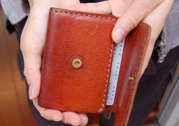 スタッフ愛用品:Organ小型財布 エイジング2