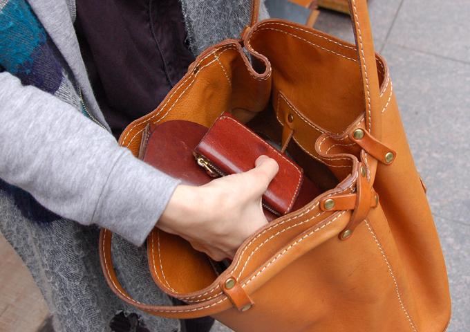 スタッフ愛用品:Organ小型財布 愛用法1