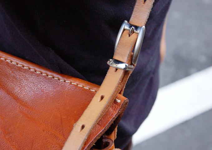 スタッフ愛用品:ワイルドメールバッグ丸型 エイジング1