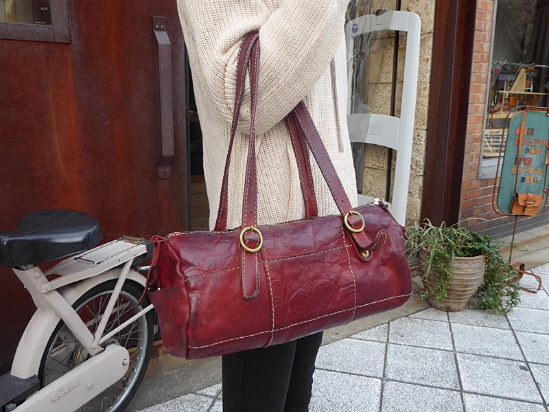 つぎはぎミニドラムバッグ(Q-11) お客様愛用鞄