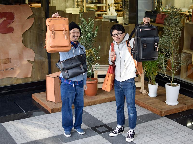 名古屋店作り手のサンプルバッグたち