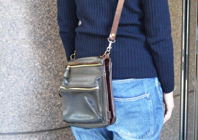 スタッフ愛用品: リバーシブルショルダーバッグの特別仕様 愛用法1