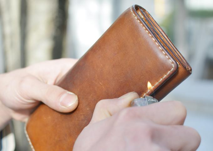 スタッフ愛用品: ソフトレザーの長財布 愛用法4