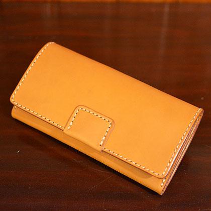 ホック留めジャバラ長財布