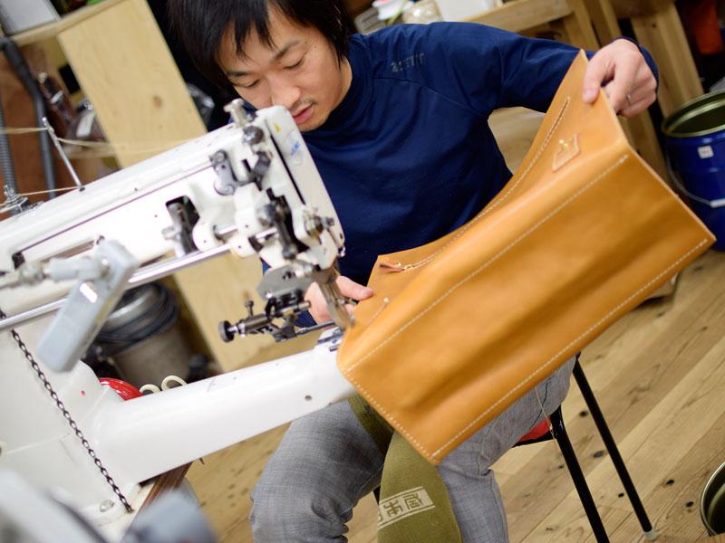 ダレスバッグの縫製3