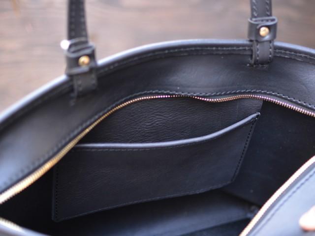シンプルファスナートートバッグ 作り手:佐藤 内ポケット