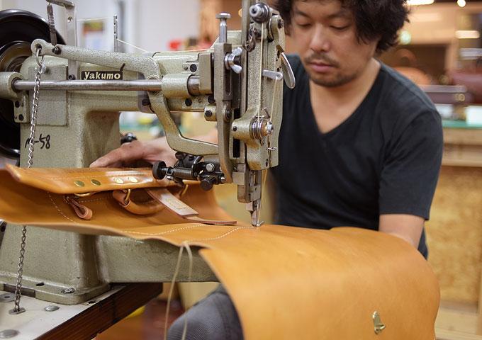 作り手による縫製
