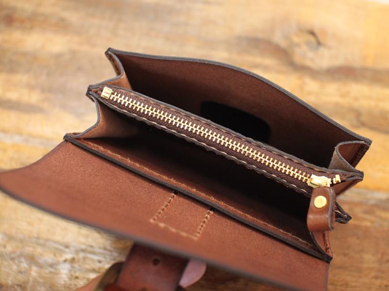 作り手:濱田 ベルト付きミニ財布