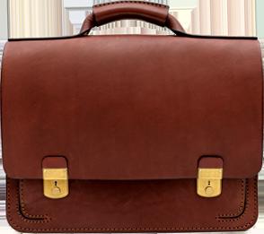 前後ふた付きポケット・2wayビジネスバッグ(BC-54) チョコ 革:ラティーゴ