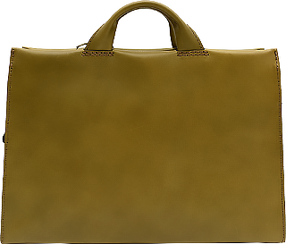 あおりポケット二本手ビジネスバッグ(BW-104) グリーン 革:ラティーゴ