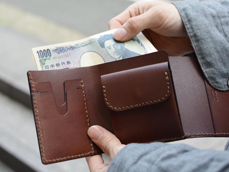 三つ折り財布 お札