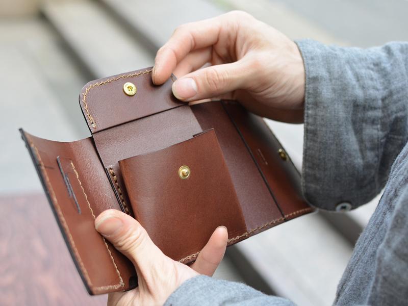 三つ折り財布 小銭