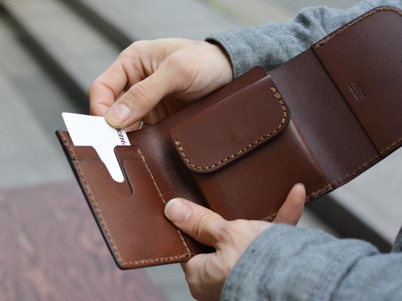 三つ折り財布 カード2