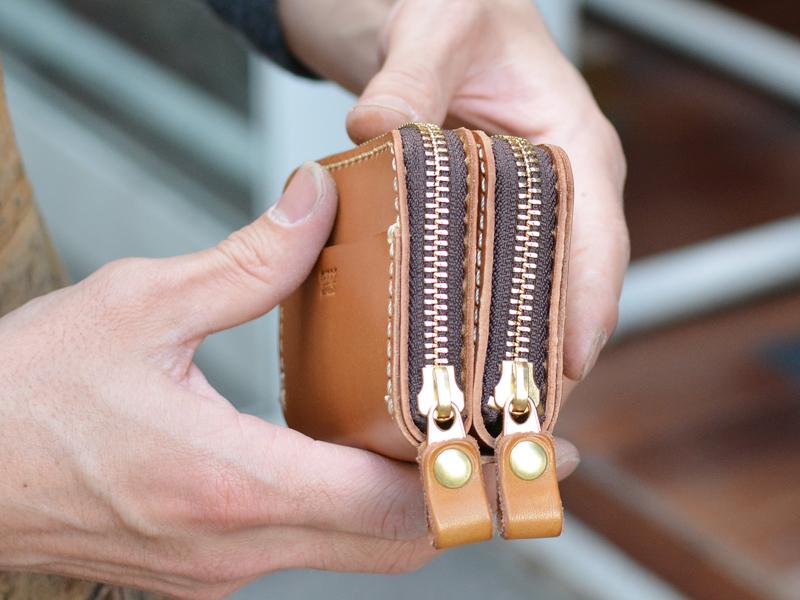 一体型財布 側面