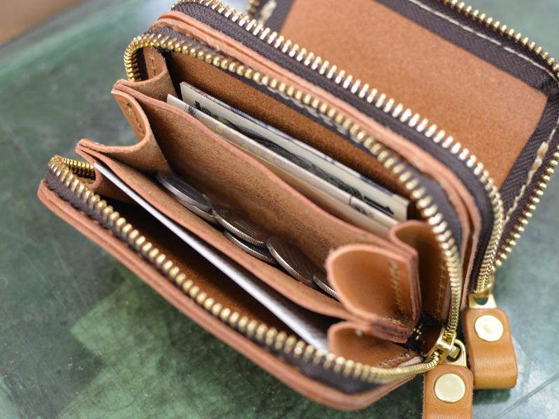 一体型財布 収納例