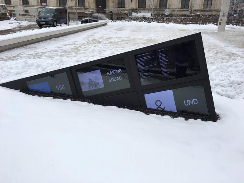 雪が降り積もるドイツの街