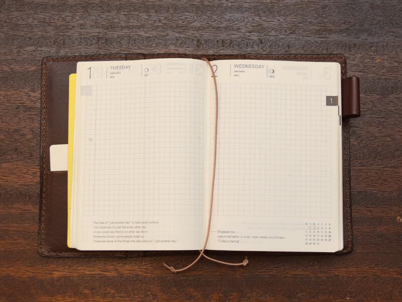 1日1ページ書き込める贅沢な仕様