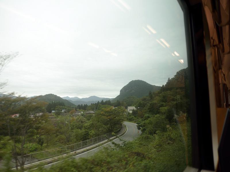 仙山線の車内