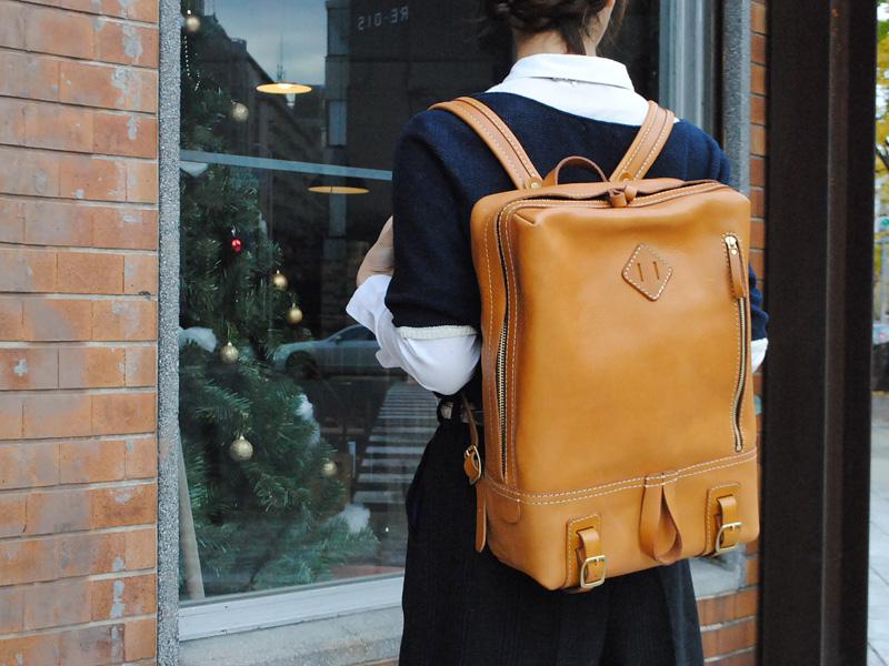 旅モノ2016作り手:西尾作「スクエアデイバッグ」