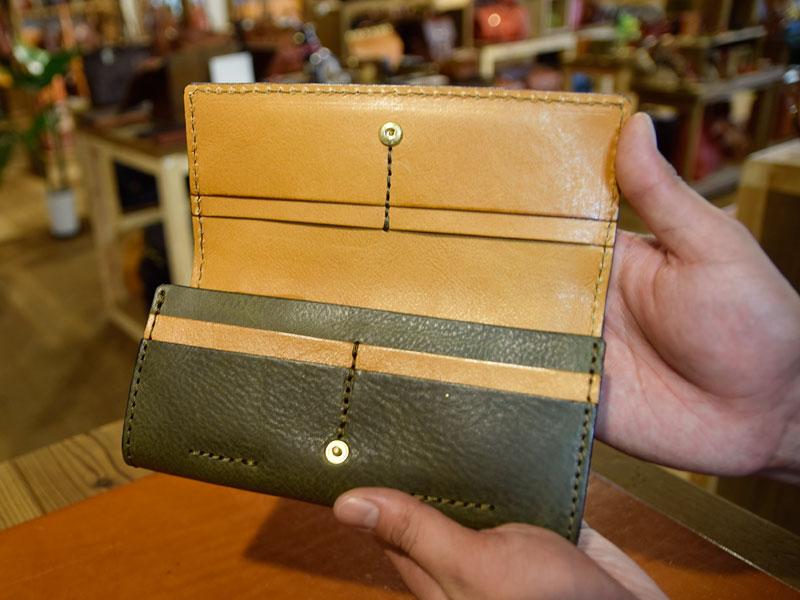 ソフトレザーの長財布(WL-63) オープン