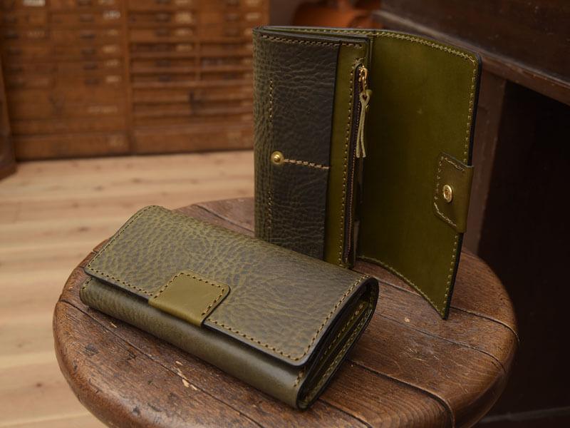 ホック留めジャバラ長財布(WL-55)