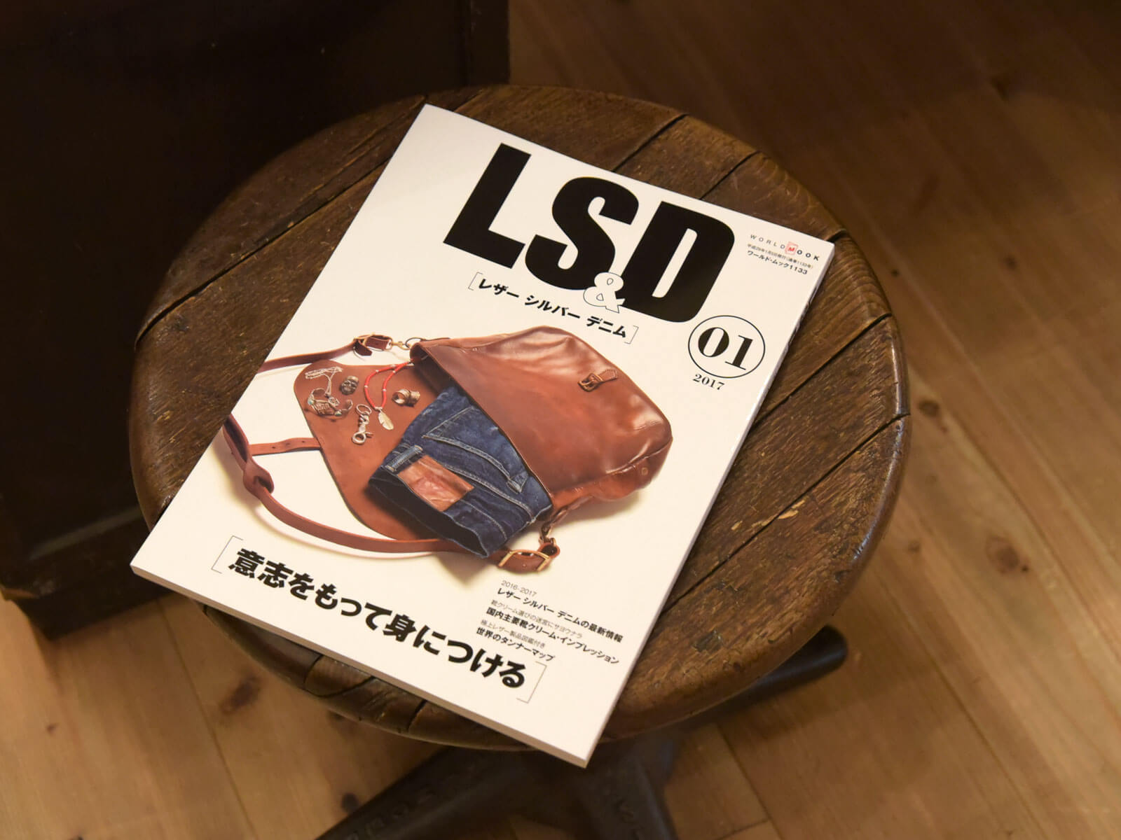 雑誌掲載のお知らせ「LS&D レザー シルバー デニム」