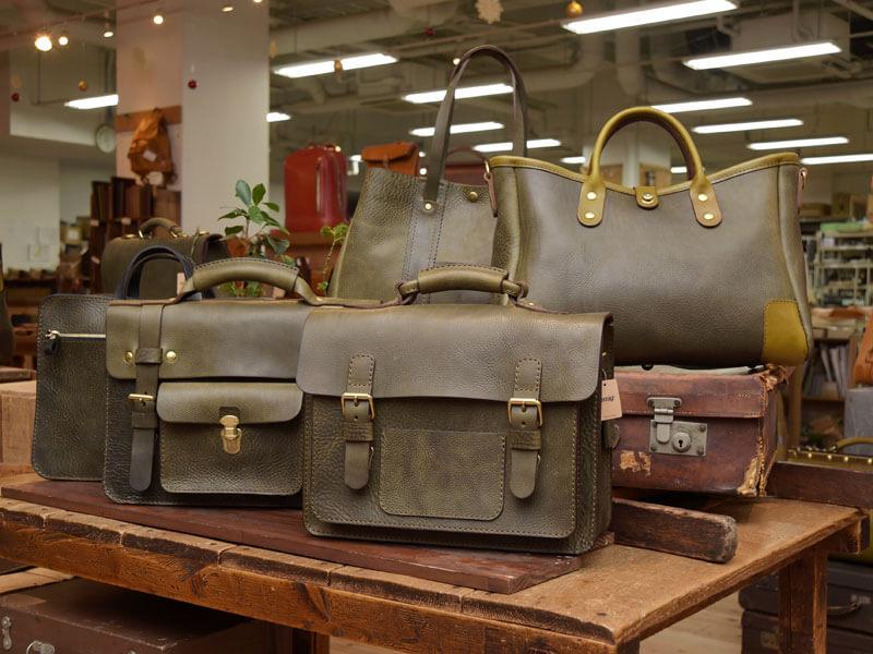 追加製作分のダークグリーン鞄をご紹介